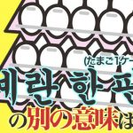 韓国語の「계란 한 판/たまご1ケース」の別の意味は?面白い韓国語表現を学ぼう
