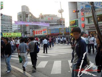 韓国の人混み