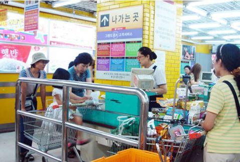 韓国のマート