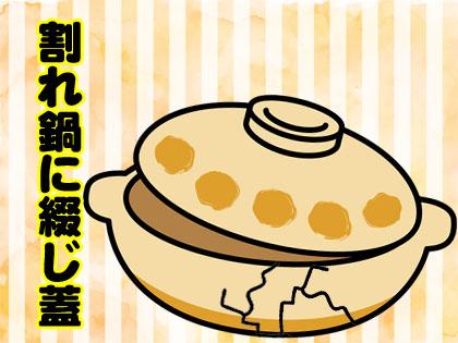 割れ鍋に綴じ蓋 韓国語