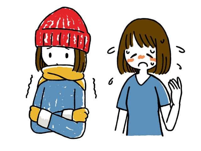 寒がり 暑がり 韓国語